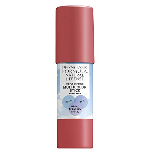 Physicians Formula Natural Defense Triple Defense Multicolor Stick with SPF 20, Natural Rose, 0.26 Ounce