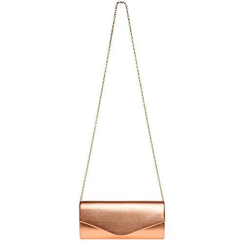 Femme Élégante sac De Pochette Forme Pour Caspar Ta420 Soirée Bronze Enveloppe xUIwqxYC