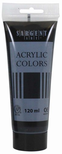 Sargent Art 23-0385 120Ml Tube Acrylic Paint, Mars Black
