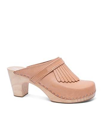 Sandgrens Swedish Clog Mules High Rise Wooden Heel for Women | Venice