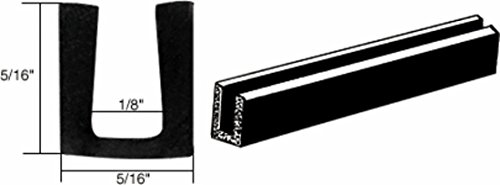 - C.R. LAURENCE AV440A CRL Glass and Acrylic Setting Rubber Channel for 1/8