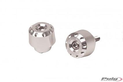 PUIG - 6820A/72 : PUIG - 6820A/72 : Contrepoids courts en aluminium pour guidon, 20mm COULEUR BLEU