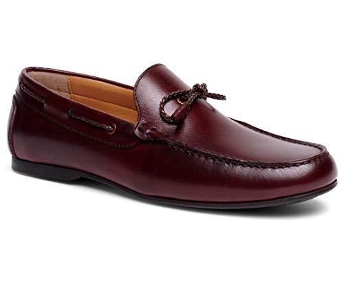 - Anthony Veer Men's Franklin Slip-on Lace Moccasin Loafer Shoes (8 D US, Burgundy Calfskin Leather)