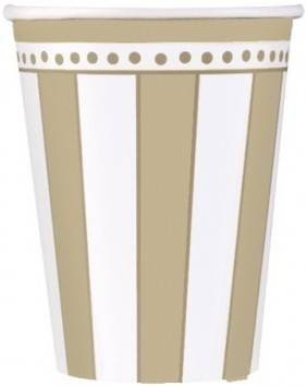 50th Anniversary 'Golden Wishes' Paper Cups (8ct)