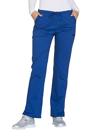 Cherokee Workwear Core Stretch WW130 Mid Rise Drawstring Pant Galaxy Blue M