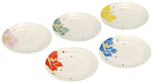 ito-masahiro-peak-kutani-53-number-plate-set-5-pieces-overglaze-aoi-statement-k4-93