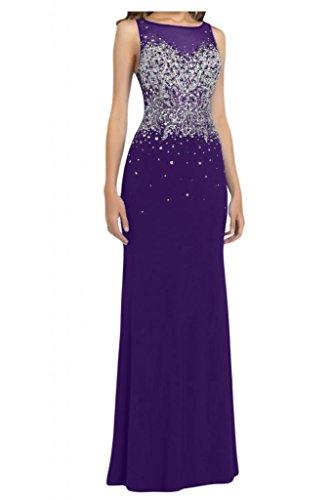 Toscana sposa Exquisit Chiffon Rueckenfrei stanotte vestimento lunga Bete un'ampia Party ball abiti da sera mode viola 52