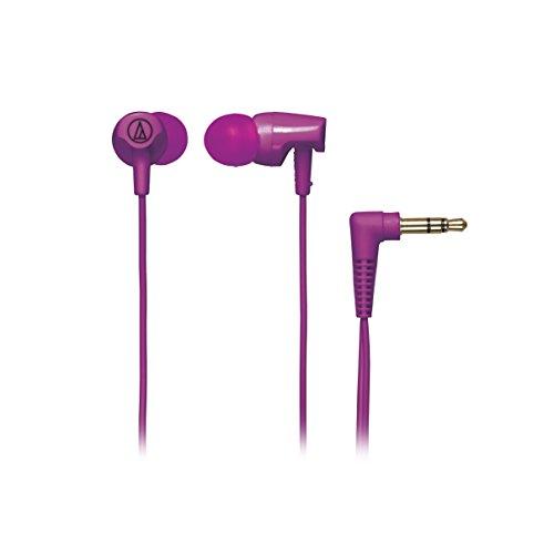 Audio Technica ATHCLR100PL In-Ear Headphones, Purple