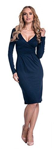 Longues Robe Cache Femme Fourreau Glamour Manches 285 Dcollet Coeur Marine Empire 7wgxqq8S