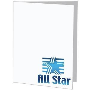 All Star foil on white cardboard photo folder frame Our price is for 50 units - 4x6 by SendAFrame