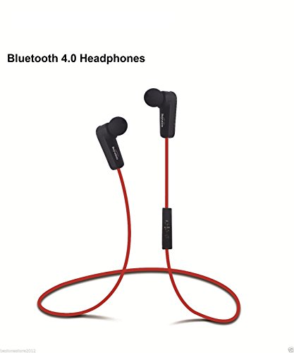Nokia Bluetooth Pda - Bluetooth Earbud, Beyution, Wireless Bluetooth Sport In-ear headphones Ideal for Walker Hikers or Any Kind of Workout (Red)