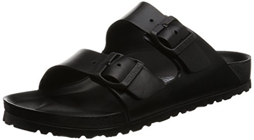Birkenstock Unisex Arizona EVA Dual Buckle Sandals, Black - 38 N EU by Birkenstock