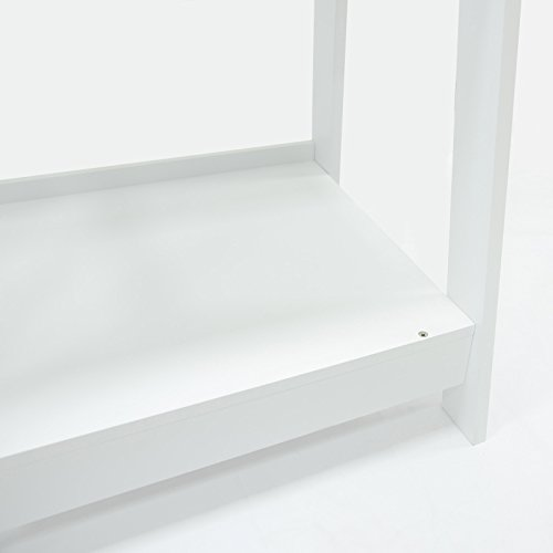 Coismo 3-Tier Ladder Functional Shelf Wooden Home Office Storage Bookcase Display, White by Coismo (Image #5)
