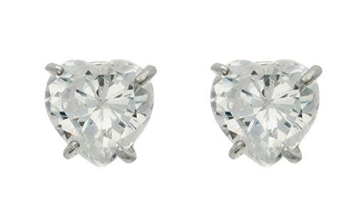 H. Gaventa Ltd - EW - CE119 - WCZ - Boucles d'oreille Femme - Coeur - Or blanc (9 carats) 0.48 Gr - Oxyde de zirconium