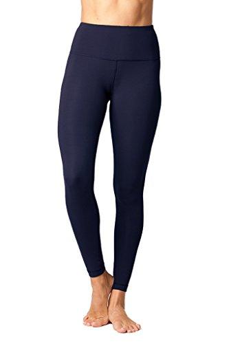 Yogalicious High Waist Ultra Soft Lightweight Leggings - High Rise Yoga Pants - Dark Sapphire - Large