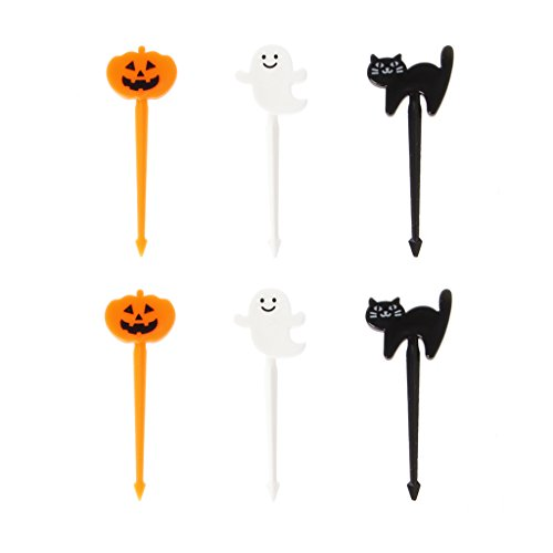 Hacloser Halloween Fruit Forks Set Cartoon Animal Cute Food Picks Bpa Free (Halloween)]()