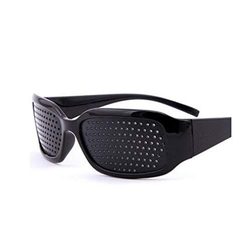 Focal20 Black Glasses Eyewear Plastic Small Holes Relieving Fatigue