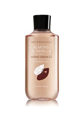 Bath and Body Works Shower Gel Almond and Vanilla Body Wash 10 Ounce Full (Vanilla Body Cleanser)