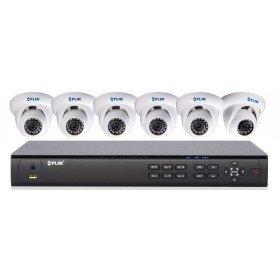 Flir Digimerge DN408P2E6 Full HD PoE IP Security 8ch, 8x PoE, 2TB w/6 Dome IP Cameras Bundle