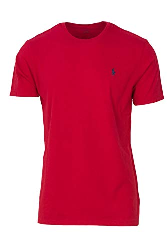 n's Classic Fit Short Sleeve T-Shirt Red Medium ()