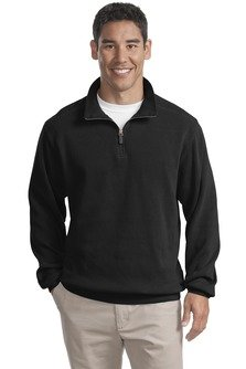 Port Authority Flatback Rib 1 4 Zip Pullover