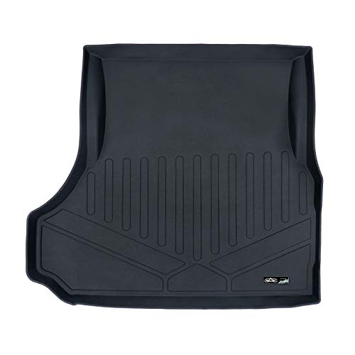 SMARTLINER Cargo Liner Trunk Floor Mat Black for 2006-2019 Dodge Charger All Models / 2005-2019 Chrysler 300 No SRT8 Models