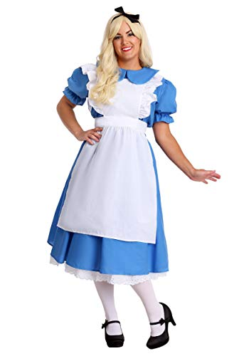 Fun Costumes Womens Adult Deluxe Plus Size Alice Costume 2X Blue