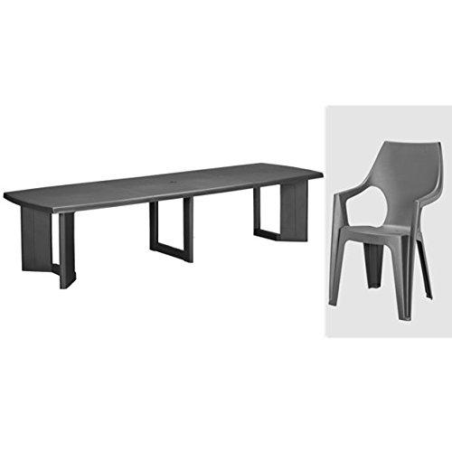 tepro gartenm bel set new york und dante anthrazit jetzt. Black Bedroom Furniture Sets. Home Design Ideas