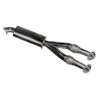 (HKS 33004-KN001 [ Nissan Gt-R(2009) Legamax Exhaust SUS304 Center Pipe ONLY Eliminates Secondary Catalytic Converters (Off-Road USE ONLY) w/Built-in)