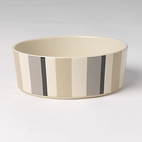 Seven Feed (Pet Rageous 4 Cup Metro Stripes Slow Feed Bowl, 7 x 2.25