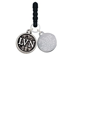 Nurse Caduceus Seal - LVN Stronger Braver Smarter Phone Charm