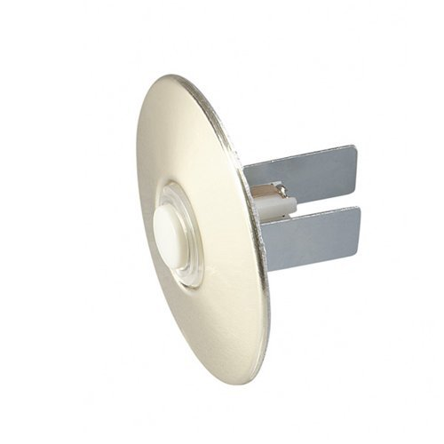 NuTone PB41LBGL Wired Lighted Round Stucco Door Chime Push Button, Polished Brass Brass Door Chimes