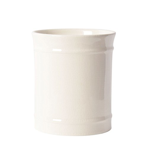 SZUAH Kitchen Ceramic Utensil Holder, Perfect Capacity Utensil Crock, for Kitchen Counter top & Dining Table (Cream)...