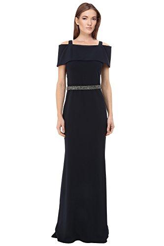 Shoulder Beaded Waist Gown - 6