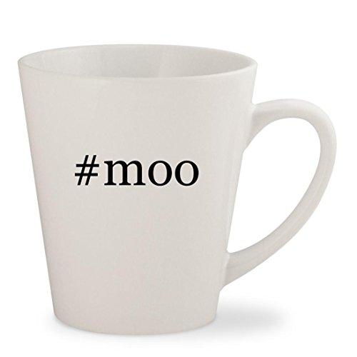 #moo - White Hashtag 12oz Ceramic Latte Mug - Moo Facebook Moo