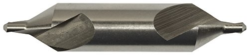 Magafor 81160416000 M2 H.S.S Center Drill Bit, Left Hand, 60 Degree Metric, 4.0 mm Body Diameter x 1.6 mm Point Diameter - 4 Center Drill