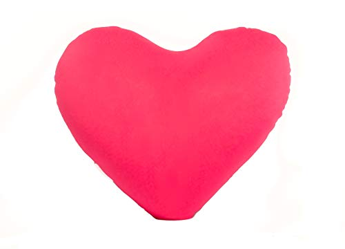 Red Fox Trading Company Heart Shaped Micro Bead Squishy Pillow -Pink