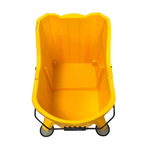 Hero EZ-LIFT Dual Cavity Commercial Mop Bucket with Wringer on Wheels, includes Dirty Water Bucket (36-Quart   9 Gallon Cleaning Bucket) by HERO IMPORTS (Image #1)