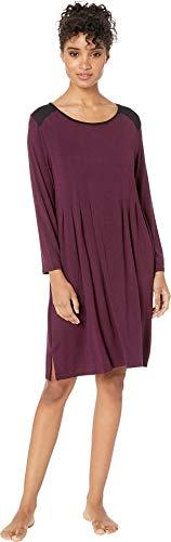 Donna Karan Women's Classic Jersey Sleepshirt Burgundy Heather Small