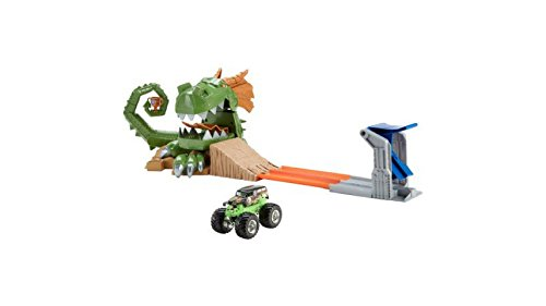 Dragon Blast Challenge Play Set Kid Activated Slam Blast Launcher Grave Digger (Pit Stop Girl Halloween Costume)