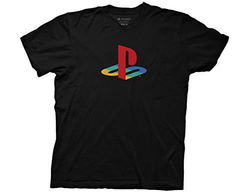 Ripple Junction Playstation Logo Adult T-Shirt Medium Black