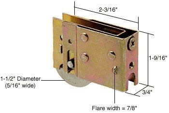 CRL 1-1/2'' Steel Sliding Glass Door Roller With 3/4'' Wide Housing for Harcar Doors - D1600
