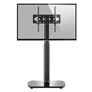 RFIVER Support TV Pied pour Téléviseur de 27 à 55 Pouce Ecran LED LCD Plasma Jusqu' à 35kg Pied TV Pivotant à 60 Degrés…