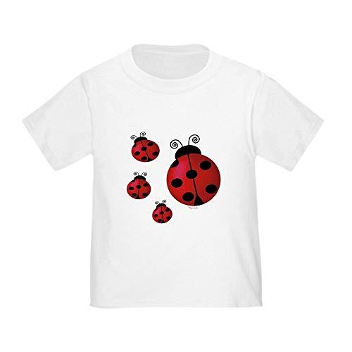 CafePress Four Ladybugs Toddler T Shirt Cute Toddler T-Shirt, 100% Cotton White