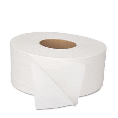 Boardwalk JRT Bath Tissue, Jumbo, 2-Ply, White, 1000 ft/Roll, 12 Rolls/Carton, Sold as 2 Carton, 12 Roll per Carton