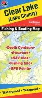 Clear Lake Fishing Map (California Fishing Map Series, (Fishing Hot Spots Map)