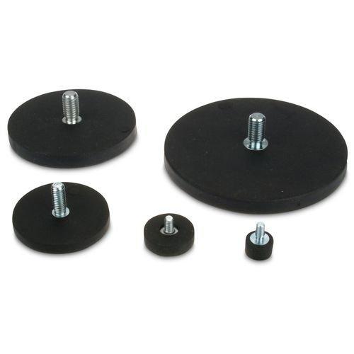 Au/ßengewinde Gewindezapfen anschrauben Magnetsystem /Ø 88 mm gummiert mit Gewinde M8x15 h/ält 55 kg starker Halt durch Neodym-Magnete