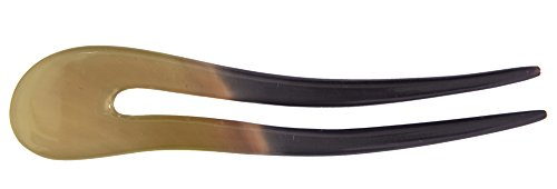 Marycrafts Wavy simple Buffalo Horn Hair Fork, Hairfork, Hair Pin, Hairpin, Hair Accessory, hair toy Handmade 5