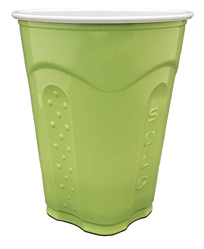 Solo Squared Party Cups, 18 Ounce, Grass Green, 100 Cups