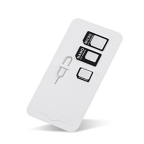 er and Micro Sim Adapter and Nano to Micro Adapter with a Sim Card Folder and a Needle,pls Place in Wallet Help You Use It Anytime ()